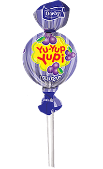 yu yup yupi, black currant flavour lollipop, flavour lollipops