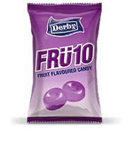 fru10 black berry, blackcurrant flavoured candy