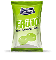 fru10 green apple, green apple flavoured candy