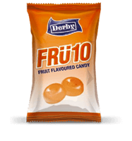 fru10 orange, orange flavoured candy