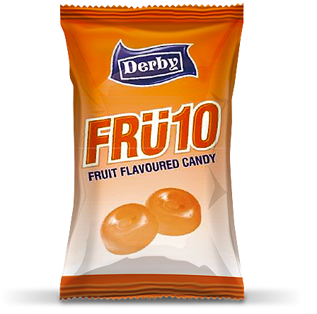 fru10 orange, orange flavoured candy, fru10 orange flavoured candy