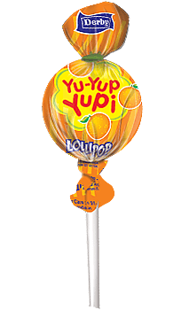 yu yup yupi, orange flavour lollipop, flavour lollipops