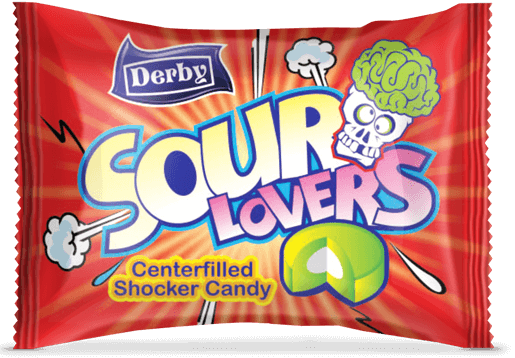 sour lovers, cola flavour candy, center filled candies