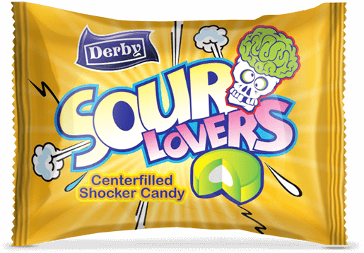 sour lovers, lemon flavour candy, center filled candies