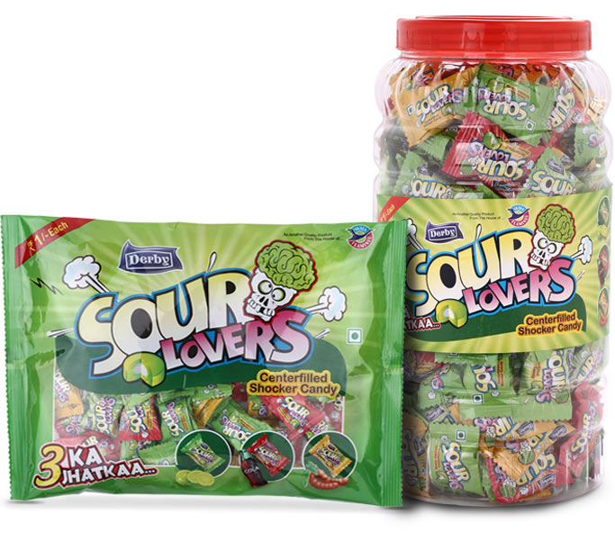 sour lovers, center filled candies