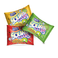 sour lover, center filled candy