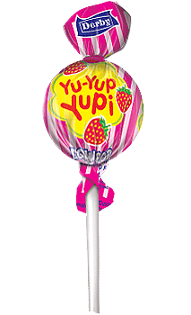 yu yup yupi, strawberry flavour lollipop, flavour lollipops