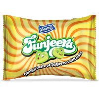 funjeera, jaljeera lime flavour candy, center filled candy, heart shape candy, derby india, confectionery packaging design, brij design studio, suncrest food maker, mumbai, india, wholesale candies, candy lollipop manufacturer