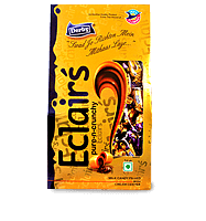 golden eclairs, milk flavoured eclairs, crunchy eclairs, chocolate eclairs, derby india, confectionery packaging design, brij design studio, suncrest food maker, mumbai, india, wholesale candies, candy lollipop manufacturer, giftpack