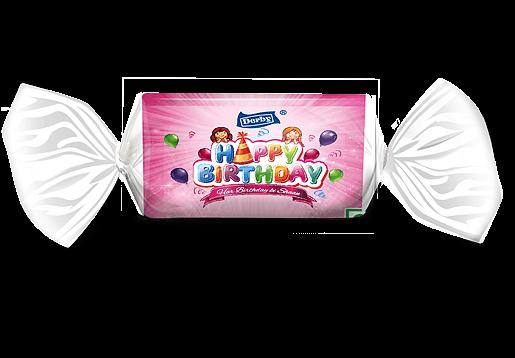 happy birthday, orange flavoured toffee, birthday gift pack
