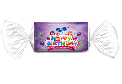 happy birthday, grapes flavoured toffee, birthday gift pack