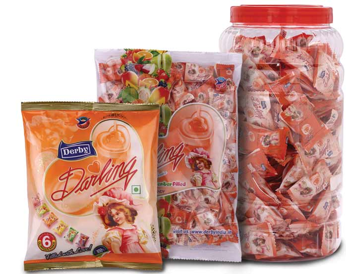 darling orange, orange flavoured candy