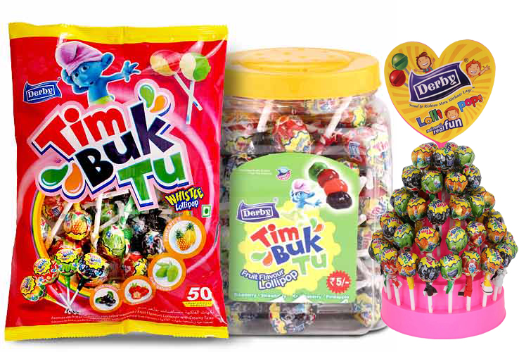 tim buk tu, flavoured lollipops