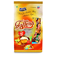 toffers giftpack, coffee flavour toffee, elaichi flavour toffee, rose flavour toffee, butter flavour toffee, coconut flavour toffee, derby india, confectionery packaging design, brij design studio, suncrest food maker, mumbai, india, wholesale candies, candy lollipop manufacturer, wholesale toffee manufacturer, gift packs