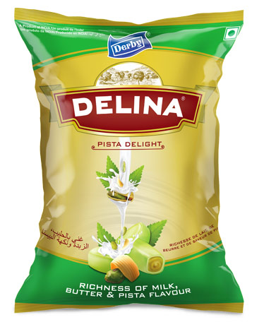 delina, pista flavoured toffee