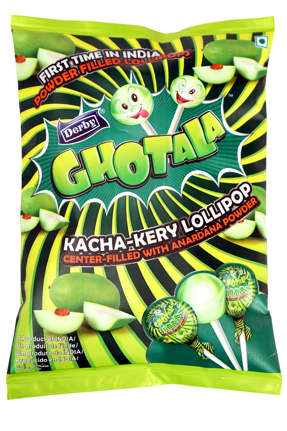 Ghotala, Kacha keri flavoured lollipop
