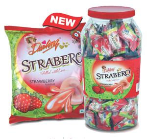 Strabero, Strawberry flavoured candy